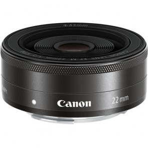 Canon EF-M 22mm f/2 STM Lens - Black