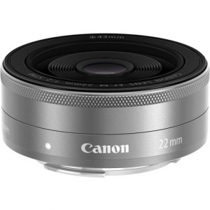 Canon EF-M 22mm f/2 STM Lens - Silver