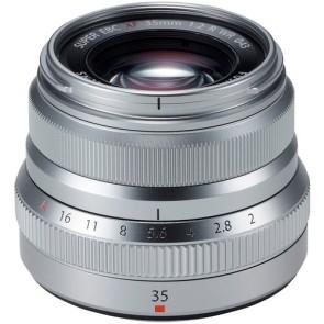 Fujifilm XF 35mm f/2 R WR Fujinon Lens (Silver)