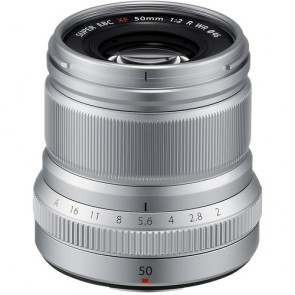 Fujifilm XF 50mm f/2 R WR Fujinon Lens (Silver)