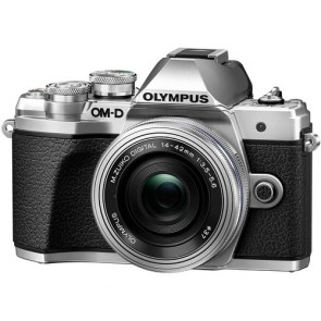 Olympus OM-D E-M10 Mark III with 14-42mm EZ Lens (Silver)