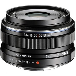 Olympus M.Zuiko 17mm f/1.8 MSC Lens (Micro Four Thirds) - Black