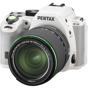 Pentax K-S2 DSLR Camera (White) with DA 18-135mm WR Lens