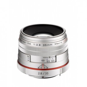 Pentax HD DA 35mm f/2.8 Macro Limited Lens (Silver)