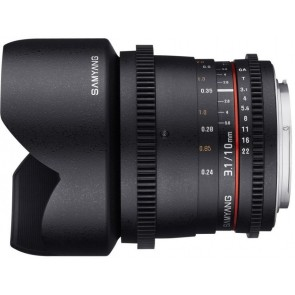 Samyang 10mm T3.1 ED AS NCS CS VDSLR Lens for Fujifilm X Mount