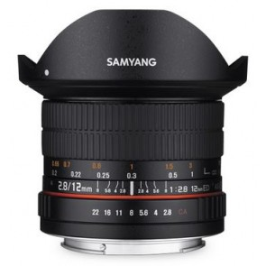 Samyang 12mm f/2.8 ED AS NCS Fish-eye Lens for Fujifilm X Mount