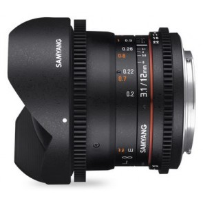 Samyang 12mm T3.1 VDSLR ED AS NCS Fish-eye Lens for Fujifilm X Mount