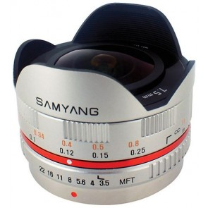 Samyang 7.5mm f/3.5 UMC Fish-eye Lens for Micro Four Thirds (Silver)