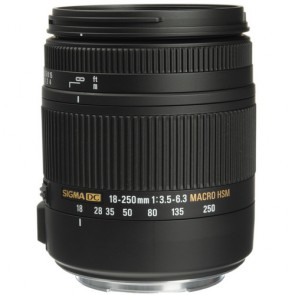Sigma 18-250mm F3.5-6.3 DC Macro HSM Lens for Pentax
